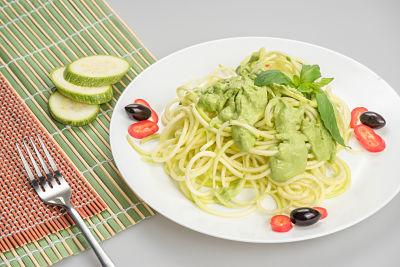 Spaghetti pesto – raw