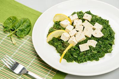 Spanac cu tofu –  vegan