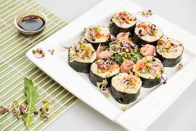 Sushi cu bulgur si legume – raw